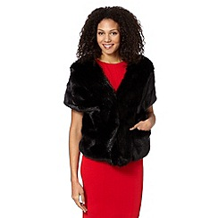 J by Jasper Conran - Designer black faux fur shrug