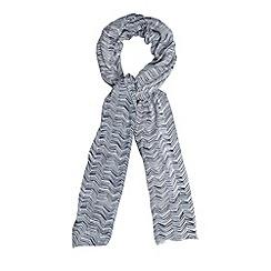 J by Jasper Conran - Designer navy chevron print scarf