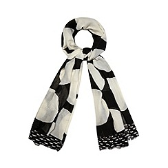 J by Jasper Conran - Designer black spotted woven scarf