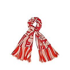 J by Jasper Conran - Designer bright orange graphic striped scarf