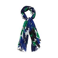 J by Jasper Conran - Designer navy daisies scarf