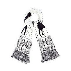 Iris & Edie - Navy reindeer fairisle knit scarf