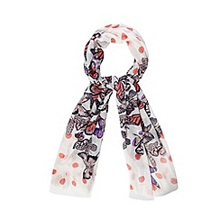 Floozie by Frost French - White printed butterfly scarf