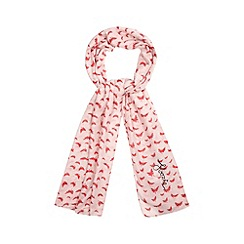 Floozie by Frost French - Pink butterfly print scarf