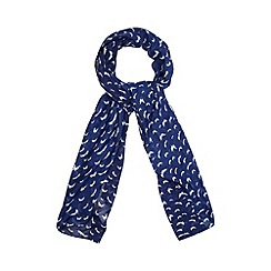 Floozie by Frost French - Navy butterfly print scarf