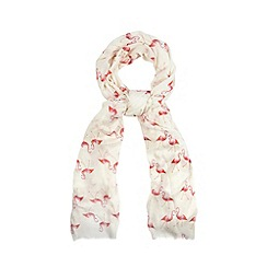 Floozie by Frost French - Pink flamingo print scarf