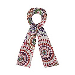 Star by Julien MacDonald - Designer white jewel print scarf
