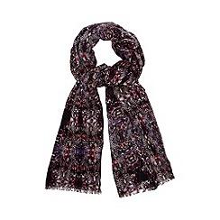 Star by Julien MacDonald - Designer navy snakeskin print scarf