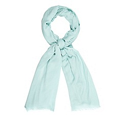 Star by Julien MacDonald - Designer pale green glittery scarf