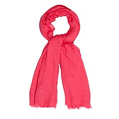 Star by Julien MacDonald - Designer bright pink glittery scarf