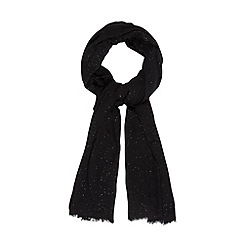 Star by Julien MacDonald - Designer black glittery scarf