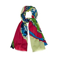 Star by Julien MacDonald - Designer bright green patchwork dye scarf
