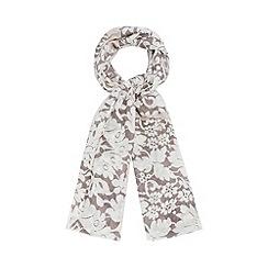 RJR.John Rocha - Designer grey two tone lace scarf
