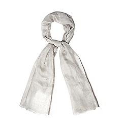 RJR.John Rocha - Designer grey metallic edge scarf