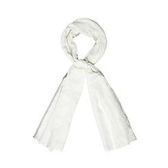 RJR.John Rocha - Designer cream metallic edge scarf