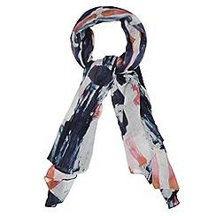 RJR.John Rocha - Designer navy brushstroke scarf