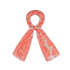 RJR.John Rocha - Designer bright pink lace print scarf