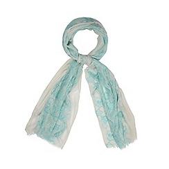 RJR.John Rocha - Designer green lace print scarf