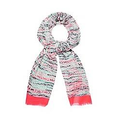 RJR.John Rocha - Designer pink neon spotted scarf