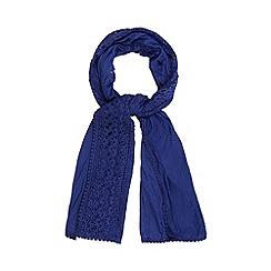 RJR.John Rocha - Designer dark blue lace edge scarf