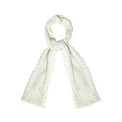 RJR.John Rocha - Designer cream lace edge scarf