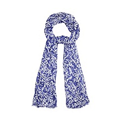 RJR.John Rocha - Designer blue mini blossom print scarf