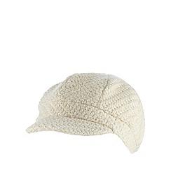 RJR.John Rocha - Designer cream wool blend chunky knit cap