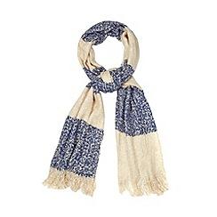 RJR.John Rocha - Designer blue striped blanket scarf