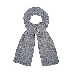 RJR.John Rocha - Designer grey popcorn knitted scarf
