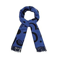 RJR.John Rocha - Designer blue floral spot blanket