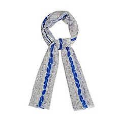 RJR.John Rocha - Designer grey animal stripe woven scarf