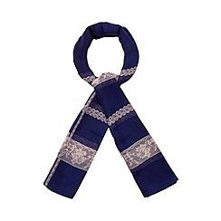 RJR.John Rocha - Designer navy floral lace scarf