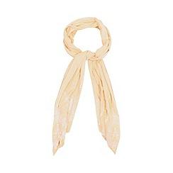 RJR.John Rocha - Designer peach embroidered hem scarf