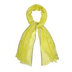 RJR.John Rocha - Designer yellow metallic edge scarf