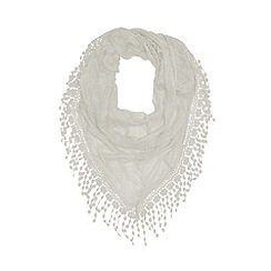 Mantaray - Cream crochet lace scarf