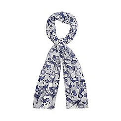 Mantaray - Navy woven swallows scarf