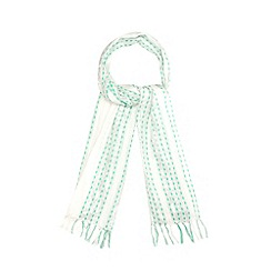 Mantaray - Green metallic patterned stripe scarf