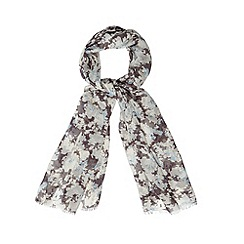 Mantaray - Cream shadow floral scarf