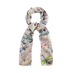 Mantaray - Pink graphic dragonfly print scarf