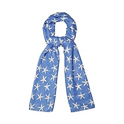 Mantaray - Blue starfish print scarf