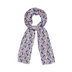 Mantaray - Grey heron print scarf
