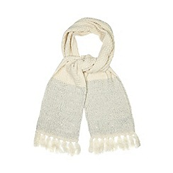 Red Herring - Cream sequin knit scarf