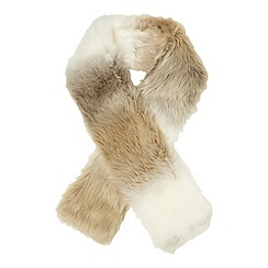 Red Herring - Cream ombre faux fur stole