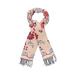 Red Herring - Pale pink floral jacquard scarf