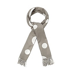 Red Herring - Grey spotted blanket scarf