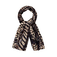 Red Herring - Navy animal print scarf