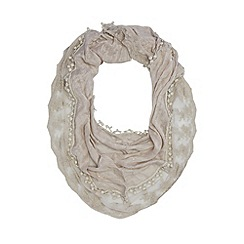 Red Herring - Grey sequin lace scarf