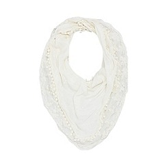 Red Herring - Ivory sequin lace scarf