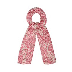 Red Herring - Bright pink leopard print scarf