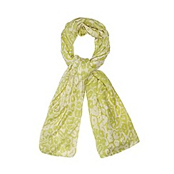 Red Herring - Lime leopard print scarf